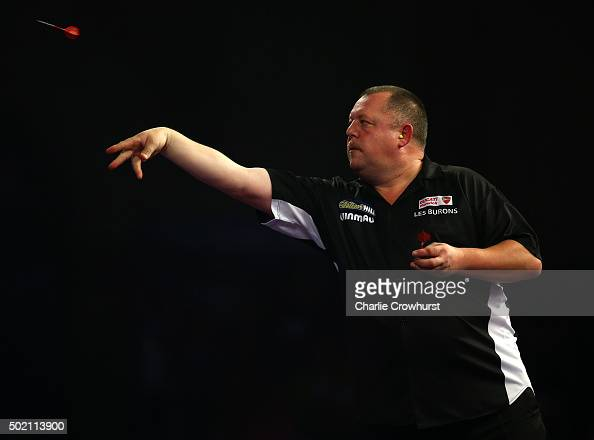Mervyn King of England in action during his first round match against Aleksandr Oreshkin of Russia during the 2016 William Hill PDC World Darts...