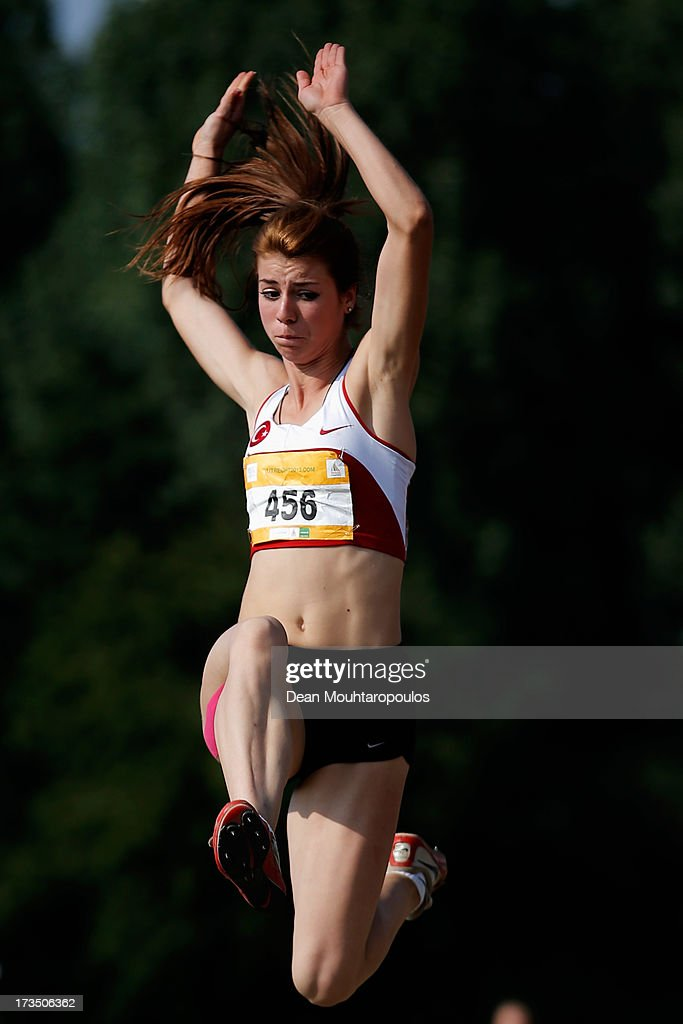 Meryem Canakci of Turkey competes in the Girls Long Jump during the European Youth Olympic Festival held at the Athletics Track Maarschalkersweerd on July 15, 2013 in Utrecht, Netherlands.
