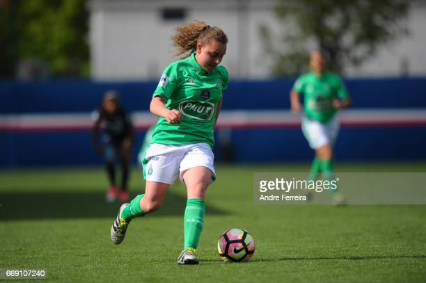 Meryl Cirri of Saint Etienne during the women's National Cup match between Paris Saint Germain PSG and AS Saint Etienne at Camp des Loges on April 16...