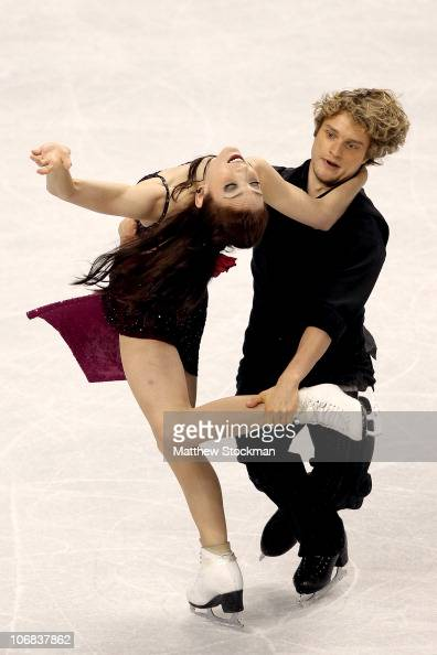 Meryl Davis and Charlie White compete in the Ice Dance Free Dance during Skate America at Rose Garden Arena on November 14 2010 in Portland Oregon