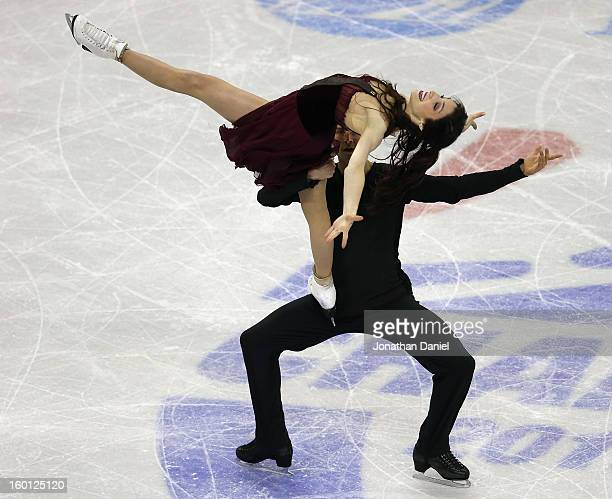 Meryl Davis and Charlie White compete in the Pairs Free Dance during the 2013 Prudential US Figure Skating Championships at CenturyLink Center on...