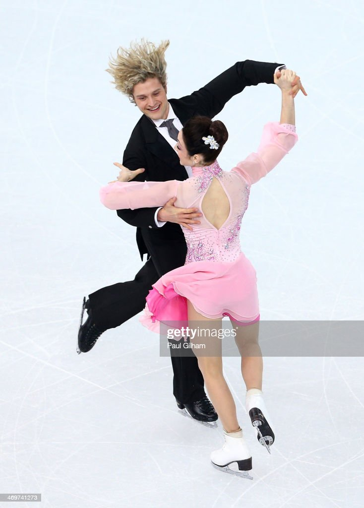 <a gi-track='captionPersonalityLinkClicked' href=/galleries/search?phrase=Meryl+Davis&family=editorial&specificpeople=3995758 ng-click='$event.stopPropagation()'>Meryl Davis</a> and Charlie White of the United States compete during the Figure Skating Ice Dance Short Dance on day 9 of the Sochi 2014 Winter Olympics at Iceberg Skating Palace on February 16, 2014 in Sochi, Russia.
