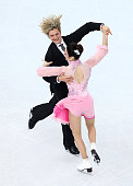 Meryl Davis and Charlie White of the United States compete during the Figure Skating Ice Dance Short Dance on day 9 of the Sochi 2014 Winter Olympics...