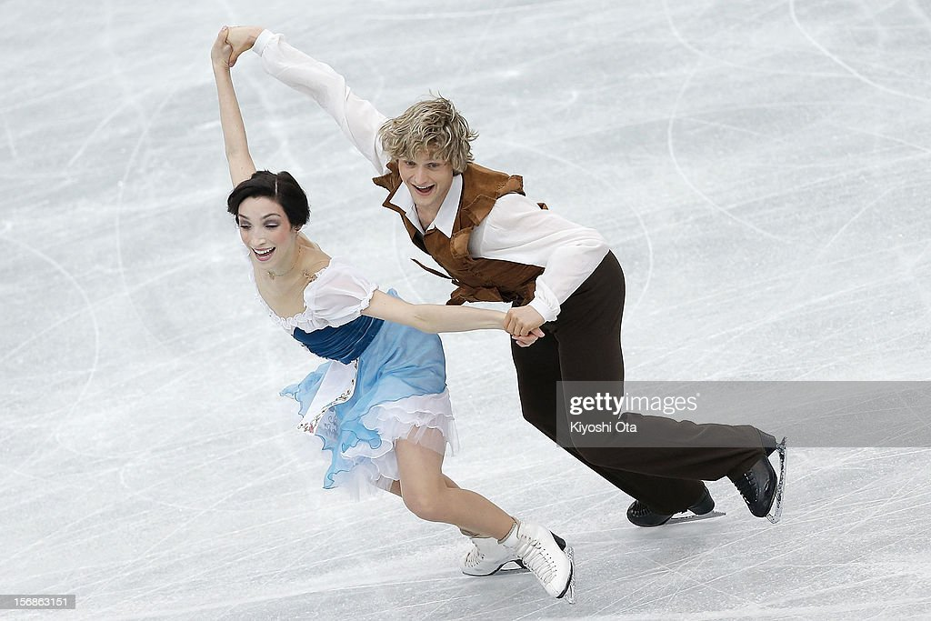 <a gi-track='captionPersonalityLinkClicked' href=/galleries/search?phrase=Meryl+Davis&family=editorial&specificpeople=3995758 ng-click='$event.stopPropagation()'>Meryl Davis</a> and Charlie White of the United States compete in the Ice Dance Short Dance during day one of the ISU Grand Prix of Figure Skating NHK Trophy at Sekisui Heim Super Arena on November 23, 2012 in Rifu, Japan.