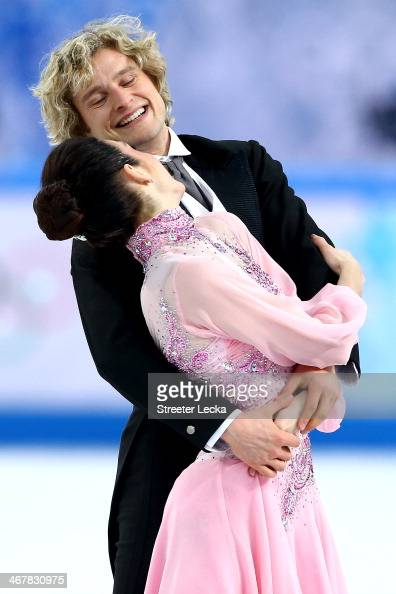 Meryl Davis and Charlie White of the United States compete in the Figure Skating Team Ice Dance Short Dance during day one of the Sochi 2014 Winter...