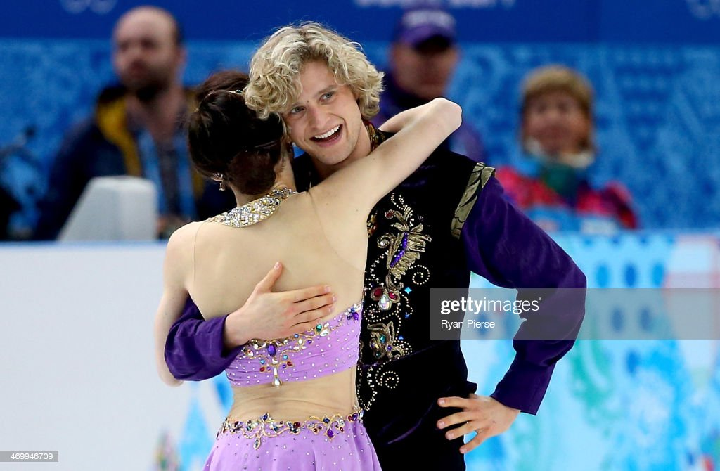 <a gi-track='captionPersonalityLinkClicked' href=/galleries/search?phrase=Meryl+Davis&family=editorial&specificpeople=3995758 ng-click='$event.stopPropagation()'>Meryl Davis</a> and Charlie White of the United States react after competing in the Figure Skating Ice Dance Free Dance on Day 10 of the Sochi 2014 Winter Olympics at Iceberg Skating Palace on February 17, 2014 in Sochi, Russia.