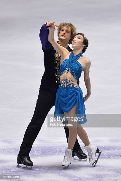 Meryl Davis and Charlie White of United States competes in the Ice Dance free program during day three of ISU Grand Prix of Figure Skating 2013/2014...