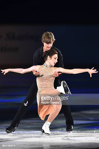 Meryl Davis and Charlie White of United States perform their routine during the NHK Special Figure Skating Exhibition at the Morioka Ice Arena on...