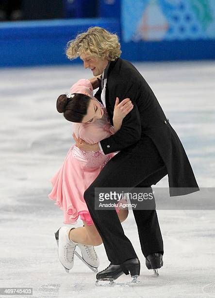 Meryl Davis and Charlie White of USA perform during the Ice Dance Short Dance Figure Skating competition at Iceberg Skating Palace during the Sochi...