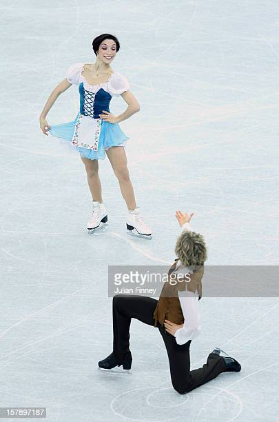 Meryl Davis and Charlie White of USA perform in the Ice Dance Short during the Grand Prix of Figure Skating Final 2012 at the Iceberg Skating Palace...
