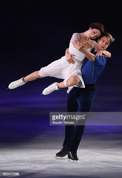 Meryl Davis and Charlie White of USA perform their routine during THE ICE 2014 at the White Ring on July 19 2014 in Nagano Japan