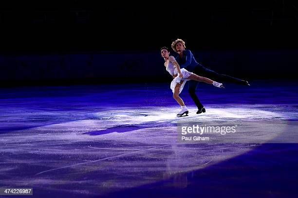 Meryl Davis and Charlie White of USA performs during the Figure Skating Exhibition Gala at Iceberg Skating Palace on February 22 2014 in Sochi