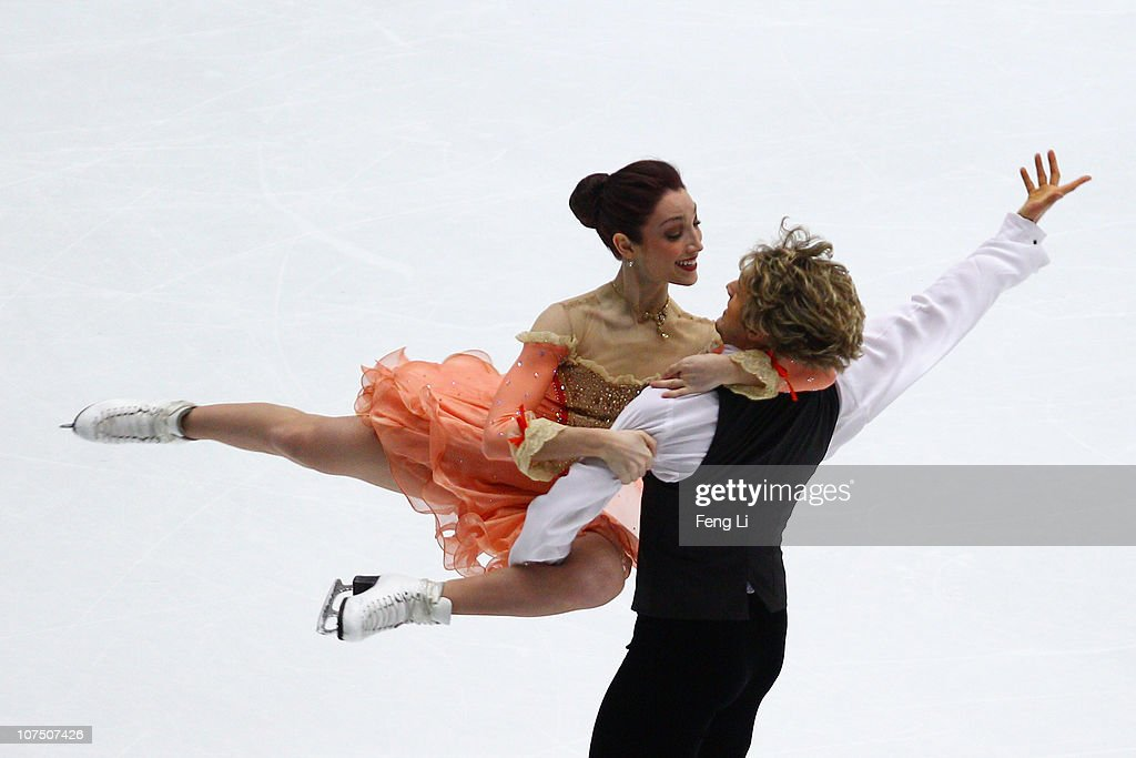 Meryl Davis and Charlie White of USA skate in the Ice Dance Short Dance during ISU Grand Prix and Junior Grand Prix Final at Beijing Capital Gymnasium on December 10, 2010 in Beijing, China.
