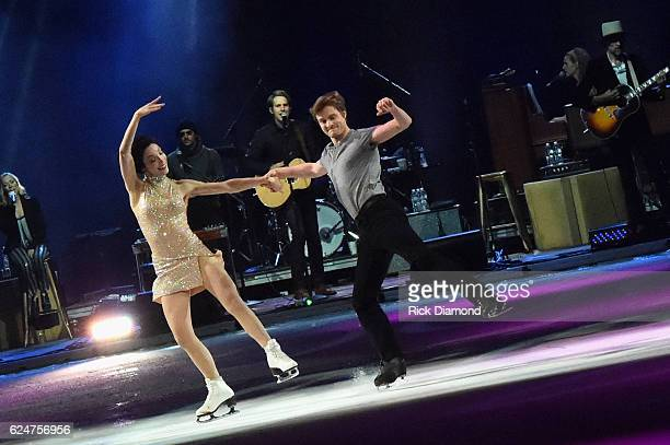 Meryl Davis and Charlie White perform at an Evening with Scott Hamilton and Friends to Benefit Scott Hamilton Cares Foundation at Bridgestone Arena...
