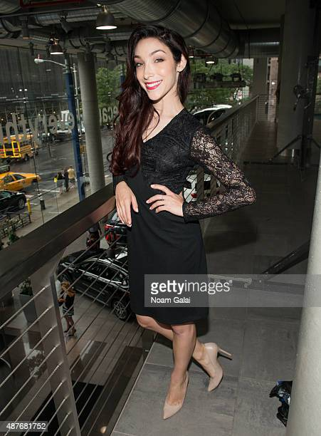 Meryl Davis poses backstage at the Role Models Not Runway Models fashion show during Spring 2016 New York Fashion Week at MercedesBenz Manhattan on...