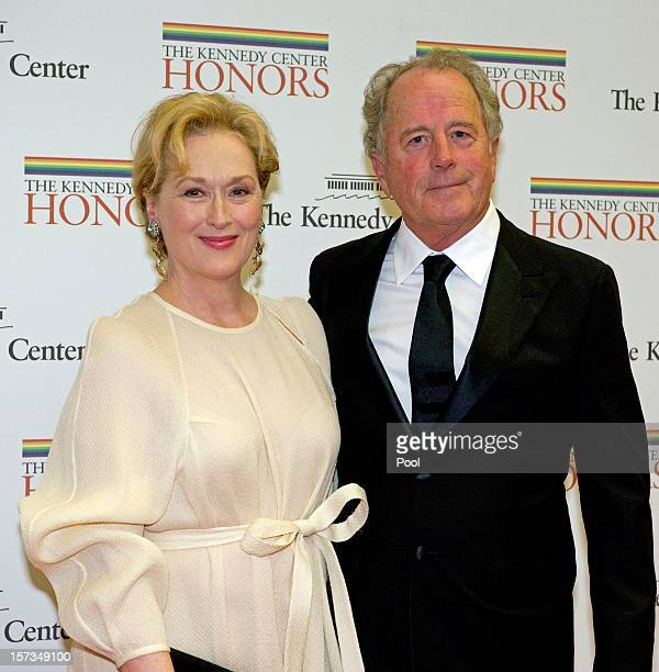Meryl Streep and Don Gummer arrive for a dinner for Kennedy honorees hosted by US Secretary of State Hillary Rodham Clinton at the US Department of...