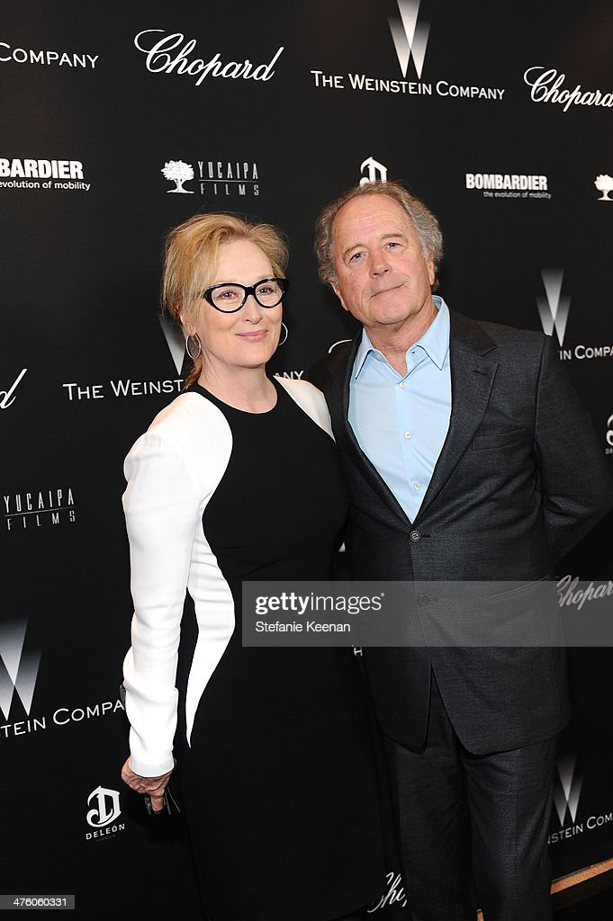 <a gi-track='captionPersonalityLinkClicked' href=/galleries/search?phrase=Meryl+Streep&family=editorial&specificpeople=171097 ng-click='$event.stopPropagation()'>Meryl Streep</a> and <a gi-track='captionPersonalityLinkClicked' href=/galleries/search?phrase=Don+Gummer&family=editorial&specificpeople=1129177 ng-click='$event.stopPropagation()'>Don Gummer</a> attend The Weinstein Company Academy Award party hosted by Chopard on March 1, 2014 in Beverly Hills, California.
