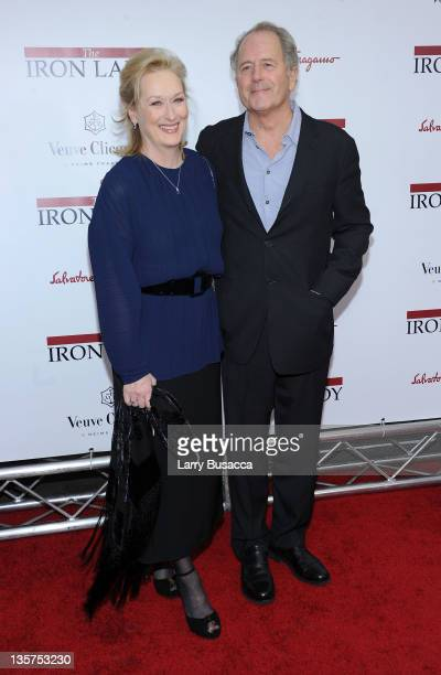 Meryl Streep and Don Gummer attends the 'The Iron Lady' New York premiere at the Ziegfeld Theater on December 13 2011 in New York City