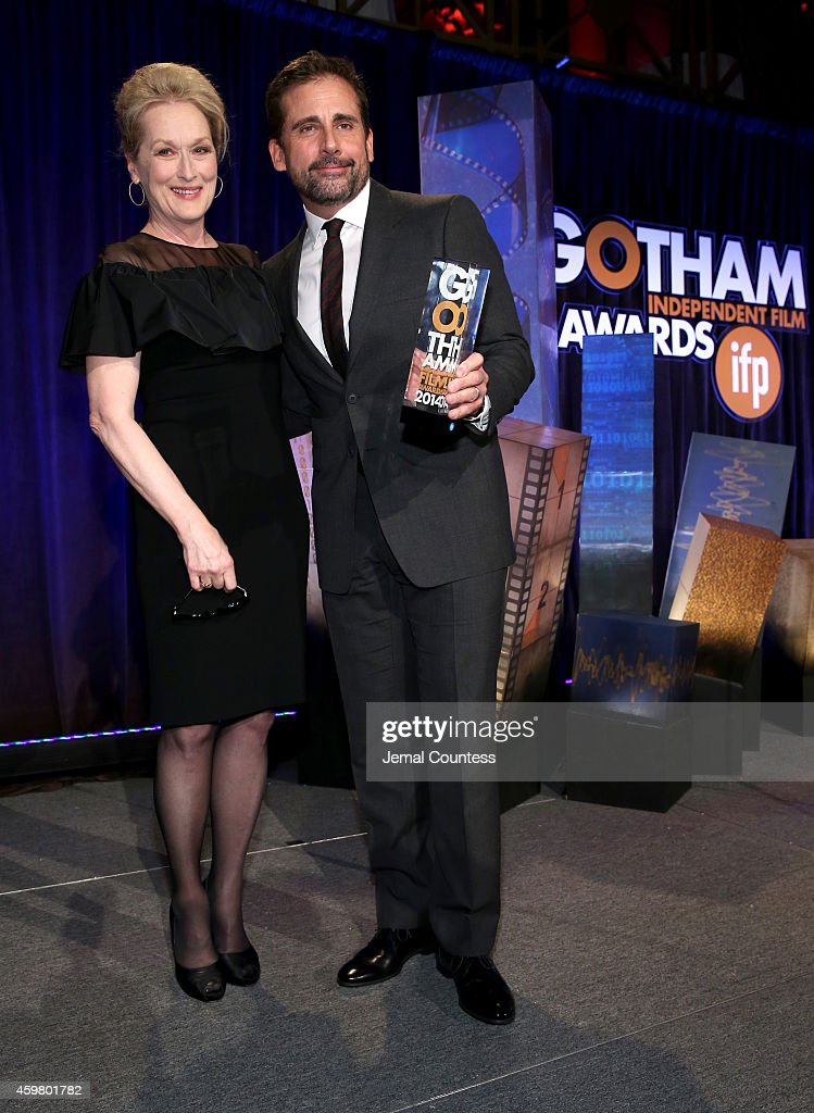 Meryl Streep and Steve Carell attend IFP's 24th Gotham Independent Film Awards at Cipriani Wall Street on December 1 2014 in New York City