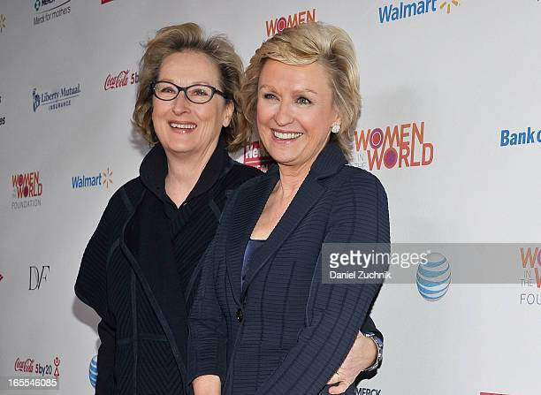 Meryl Streep and Tina Brown attend the Women in the World Summit 2013 on April 4 2013 in New York United States