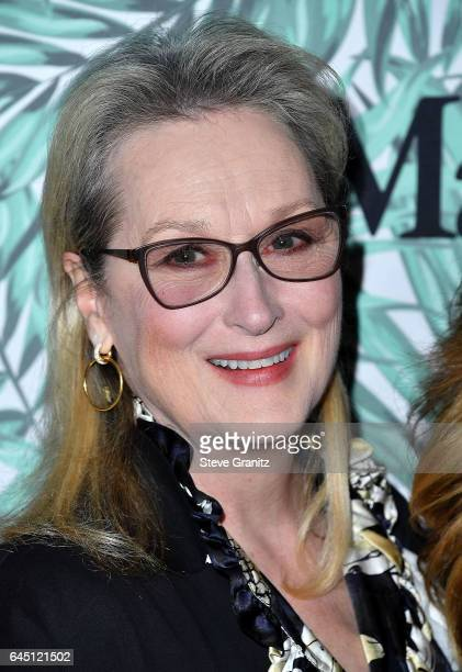 Meryl Streep arrives at the 10th Annual Women In Film PreOscar Cocktail Party at Nightingale Plaza on February 24 2017 in Los Angeles California