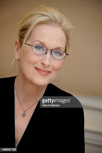 Meryl Streep at the 'Into The Woods' Press Conference at the Waldorf Astoria Hotel on November 23 2014 in New York City