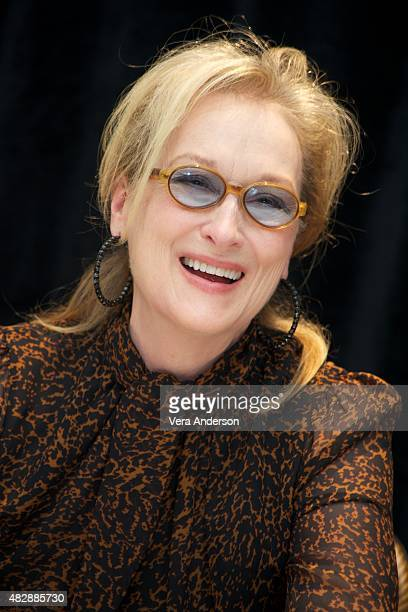 Meryl Streep at the 'Ricki And The Flash' Press Conference at the Ritz Carlton Hotel on August 2 2015 in New York City