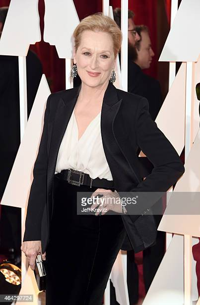 Meryl Streep attend the 87th Annual Academy Awards at Hollywood Highland Center on February 22 2015 in Hollywood California