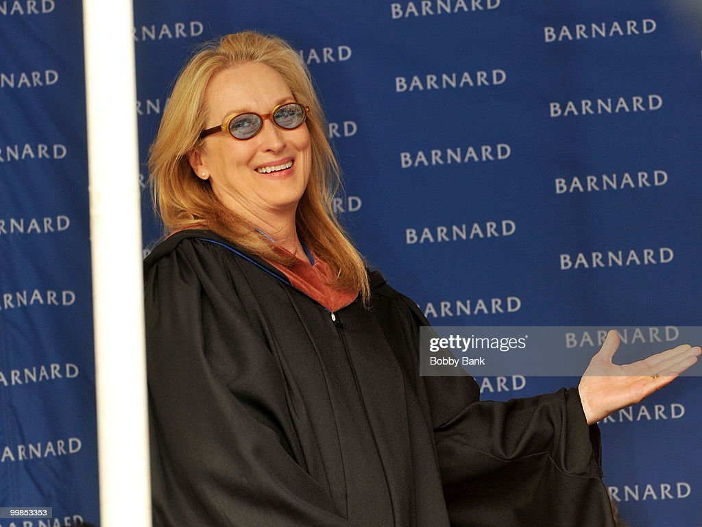 Meryl Streep attends the 2010 commencement at Barnard College on May 17 2010 in New York City
