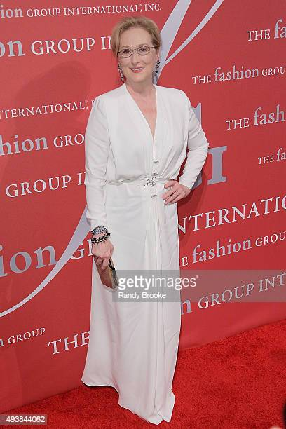 Meryl Streep attends the 2015 Fashion Group International Night Of Stars Gala at Cipriani Wall Street on October 22 2015 in New York City