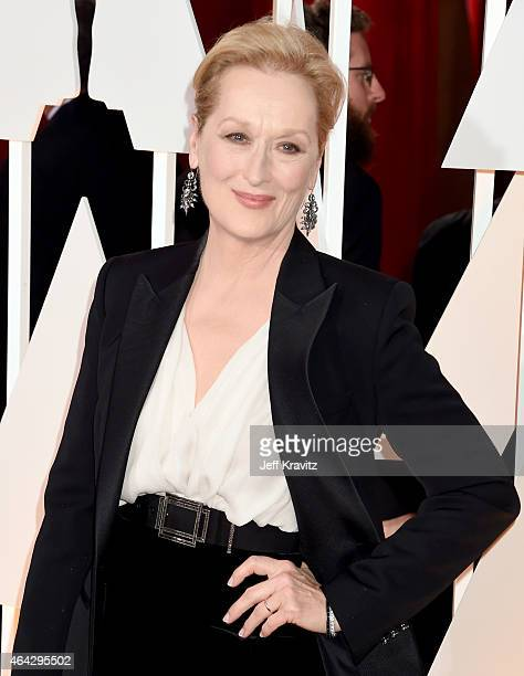 Meryl Streep attends the 87th Annual Academy Awards at Hollywood Highland Center on February 22 2015 in Hollywood California