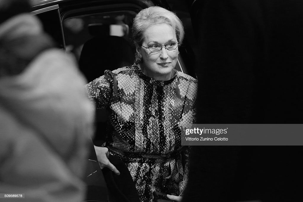 <a gi-track='captionPersonalityLinkClicked' href=/galleries/search?phrase=Meryl+Streep&family=editorial&specificpeople=171097 ng-click='$event.stopPropagation()'>Meryl Streep</a> attends the 'Hail, Caesar!' premiere during the 66th Berlinale International Film Festival Berlin at Berlinale Palace on February 11, 2016 in Berlin, Germany.