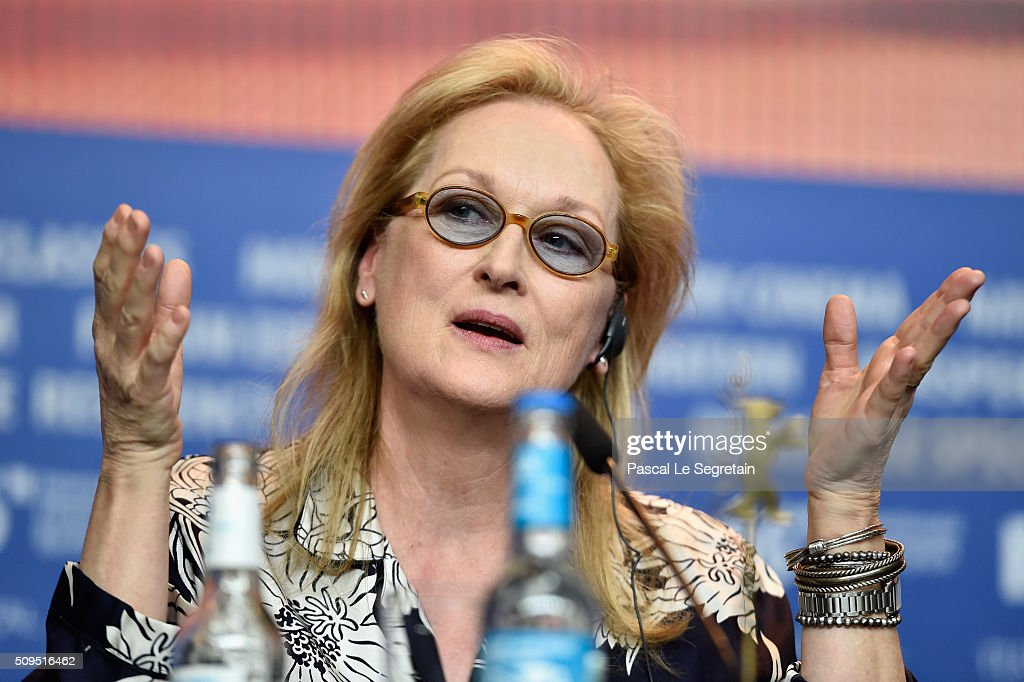 <a gi-track='captionPersonalityLinkClicked' href=/galleries/search?phrase=Meryl+Streep&family=editorial&specificpeople=171097 ng-click='$event.stopPropagation()'>Meryl Streep</a> attemds the International Jury press conference during the 66th Berlinale International Film Festival Berlin at Grand Hyatt Hotel on February 11, 2016 in Berlin, Germany.