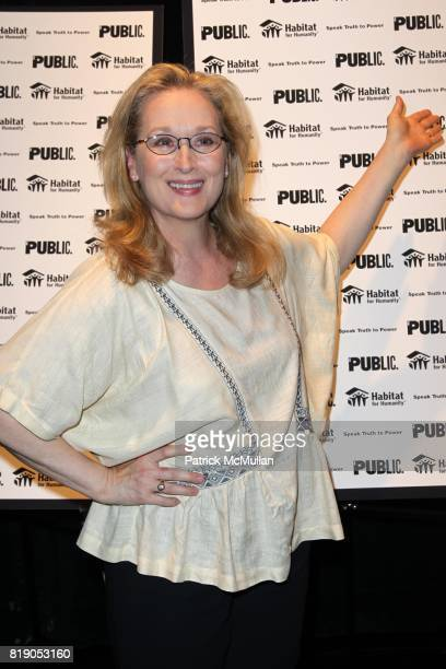 Meryl Streep attends THE PUBLIC THEATRE Presents a OneNightOnly Benefit Reading of SPEAK TRUTH TO POWER Voice Beyond the Dark at The Public Theatre...