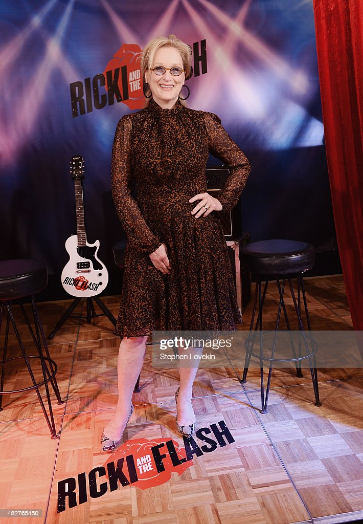 Meryl Streep attends the 'Ricki And The Flash' cast photo call at Ritz Carlton Hotel on August 2, 2015 in New York City.