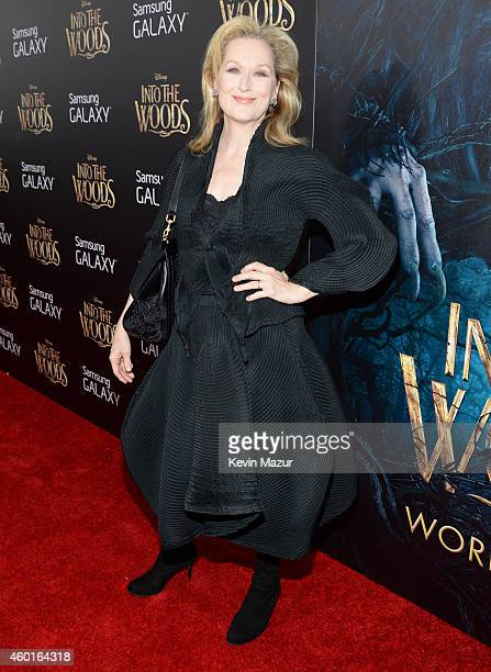 Meryl Streep attends the world premiere of 'Into the Woods' at the Ziegfeld Theatre on December 8 2014 in New York City The stars came out for the...