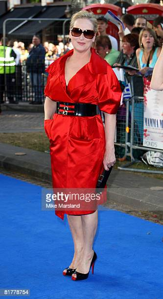 Meryl Streep attends the world premiere of 'Mamma Mia' the Movie at the Odeon Leicester Square on June 30 2008 in London