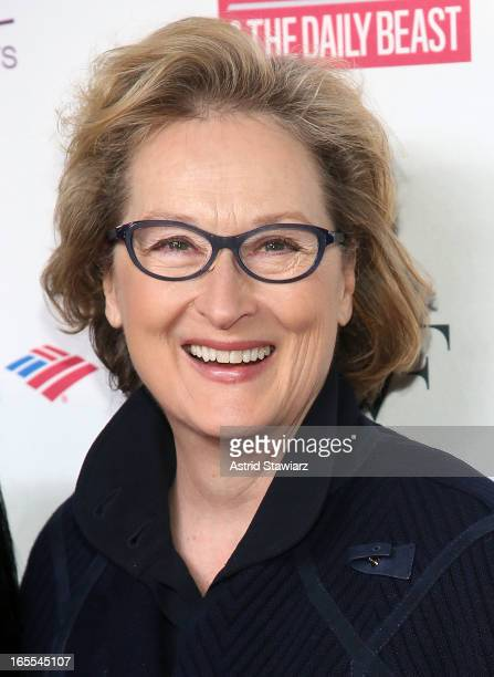 Meryl Streep attends Women in the World Summit 2013 on April 4 2013 in New York United States