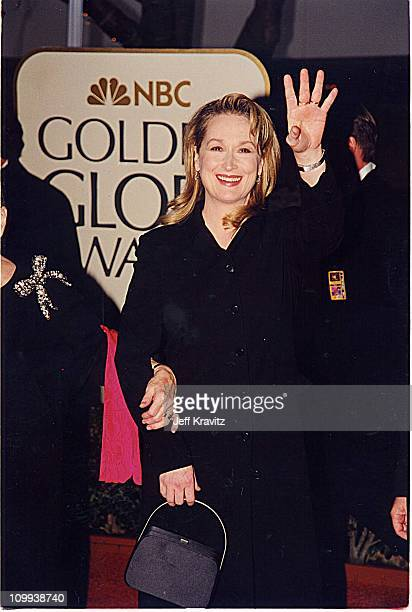 Meryl Streep during 1999 Golden Globe Awards in Los Angeles California United States