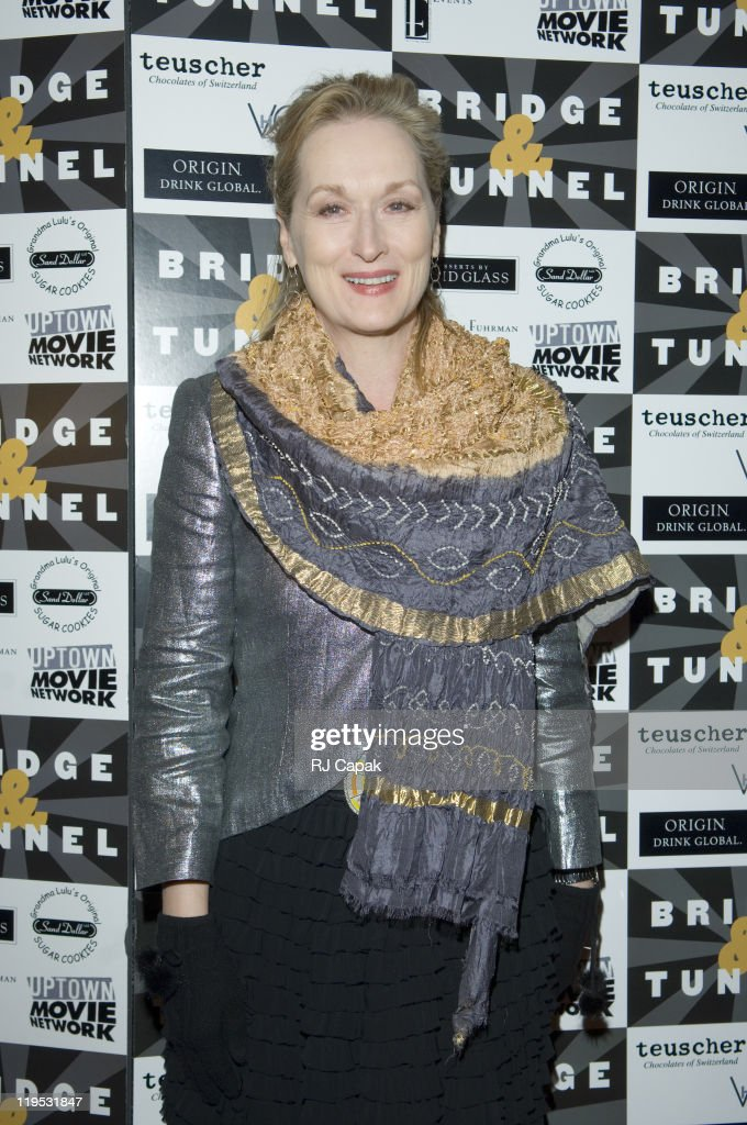 Meryl Streep during 'Bridge Tunnel' Broadway Opening Night Theatre Arrivals at Helen Hayes Theatre in New York City New York United States