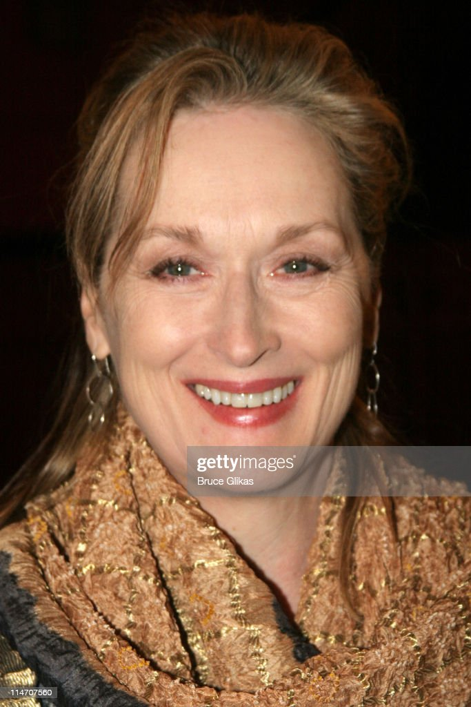 Meryl Streep during Sarah Jones' 'Bridge and Tunnel' Broadway Opening Night Arrivals at Helen Hayes Theatre in New York City New York United States