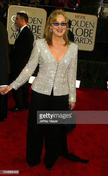 Meryl Streep during The 60th Annual Golden Globe Awards Arrivals at The Beverly Hilton Hotel in Beverly Hills California United States