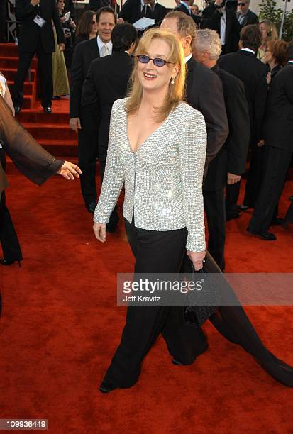 Meryl Streep during The 60th Annual Golden Globe Awards Arrivals at Beverly Hilton Hotel in Beverly Hills CA United States