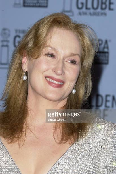 Meryl Streep during The 60th Annual Golden Globe Awards Press Room at The Beverly Hilton Hotel in Beverly Hills California United States