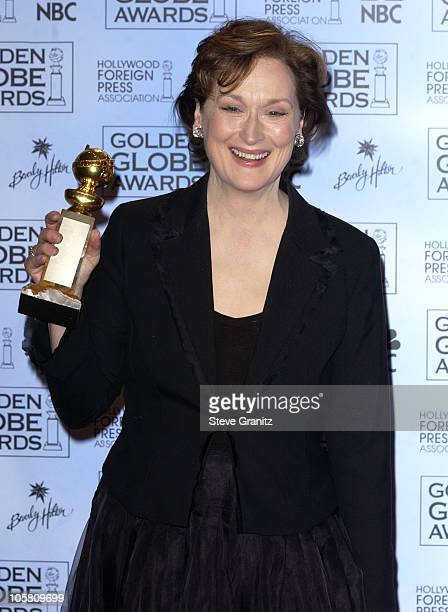 Meryl Streep during The 61st Annual Golden Globe Awards Press Room at The Beverly Hilton in Beverly Hills California United States