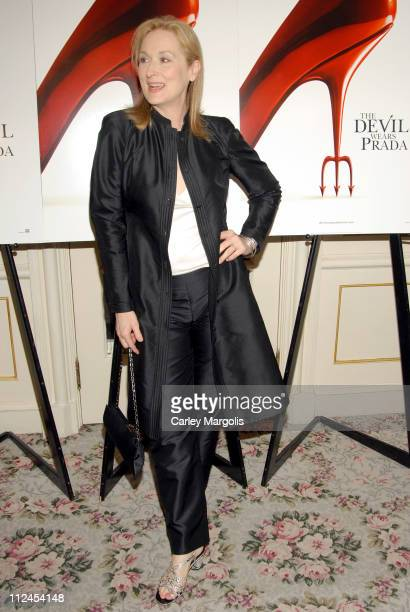 Meryl Streep during 'The Devil Wears Prada' A Dinner and Private Auction Hosted by the St Regis Hotel May 23 2006 at St Regis Hotel in New York City...