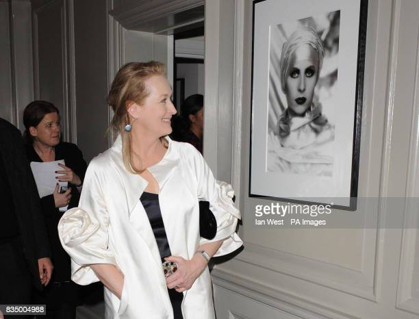 Meryl Streep is seen at the screening for new film Doubt at the Browns Hotel in central London