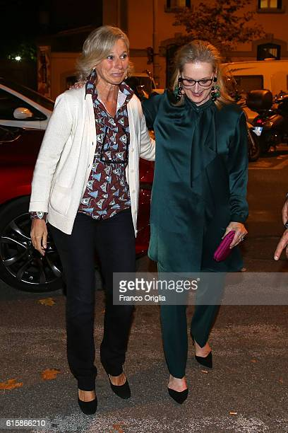 Meryl Streep meets Giovanna Melandri President of MAXXI National Museum of the 21st Century Arts of Rome in front of Maxxi during the 11th Rome Film...