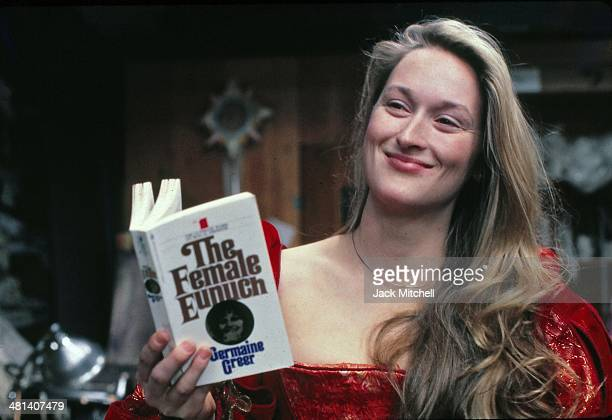 "Meryl Streep rehearsing for the Shakespeare in the Park production of ""The Taming of the Shrew"" which costarred Raul Julia"