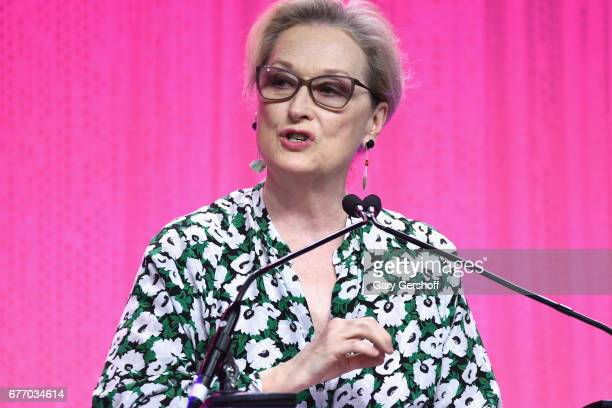 Meryl Streep speaks on stage during the Planned Parenthood 100th Anniversary Gala at Pier 36 on May 2 2017 in New York City